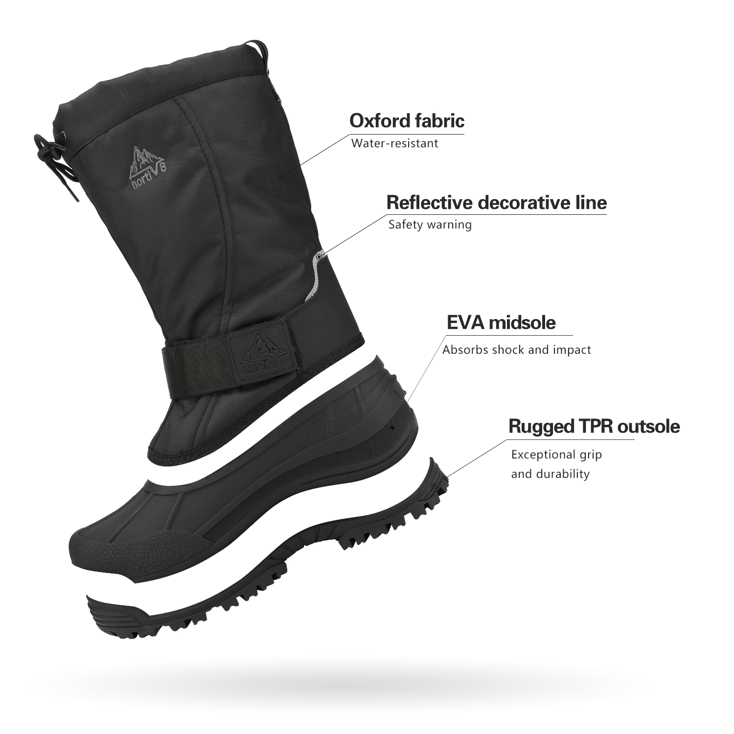 NORTIV-8-Men-039-s-Winter-Snow-Boots-Waterproof-Warm-Thermolite-Outdoor-Hiking-Boots thumbnail 8