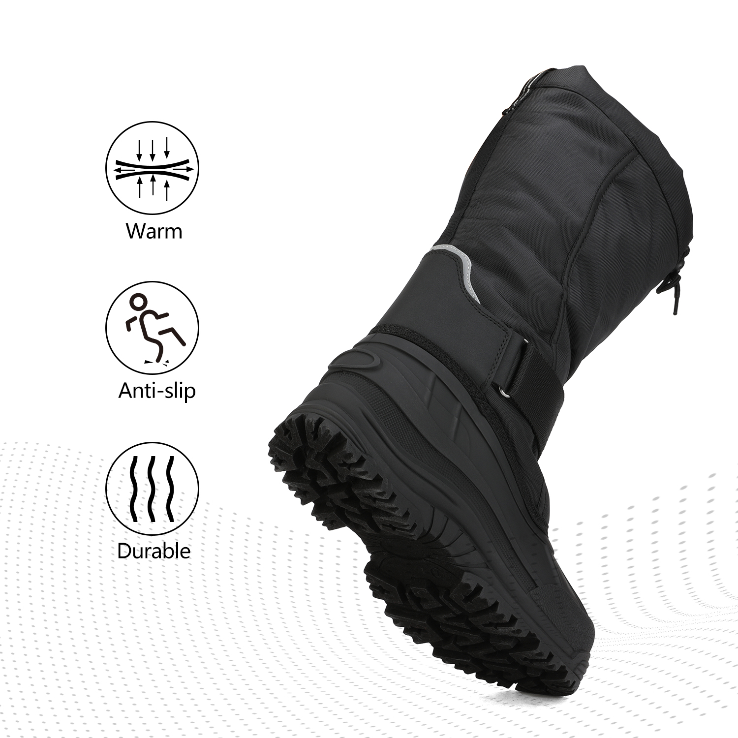 NORTIV-8-Men-039-s-Winter-Snow-Boots-Waterproof-Warm-Thermolite-Outdoor-Hiking-Boots thumbnail 9