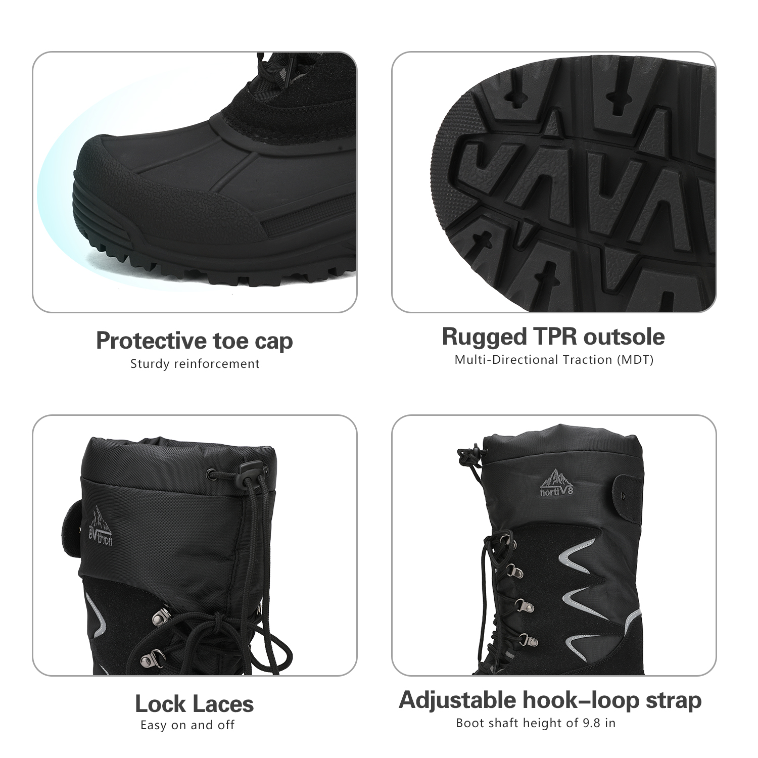 NORTIV-8-Men-039-s-Winter-Snow-Boots-Waterproof-Warm-Thermolite-Outdoor-Hiking-Boots thumbnail 12
