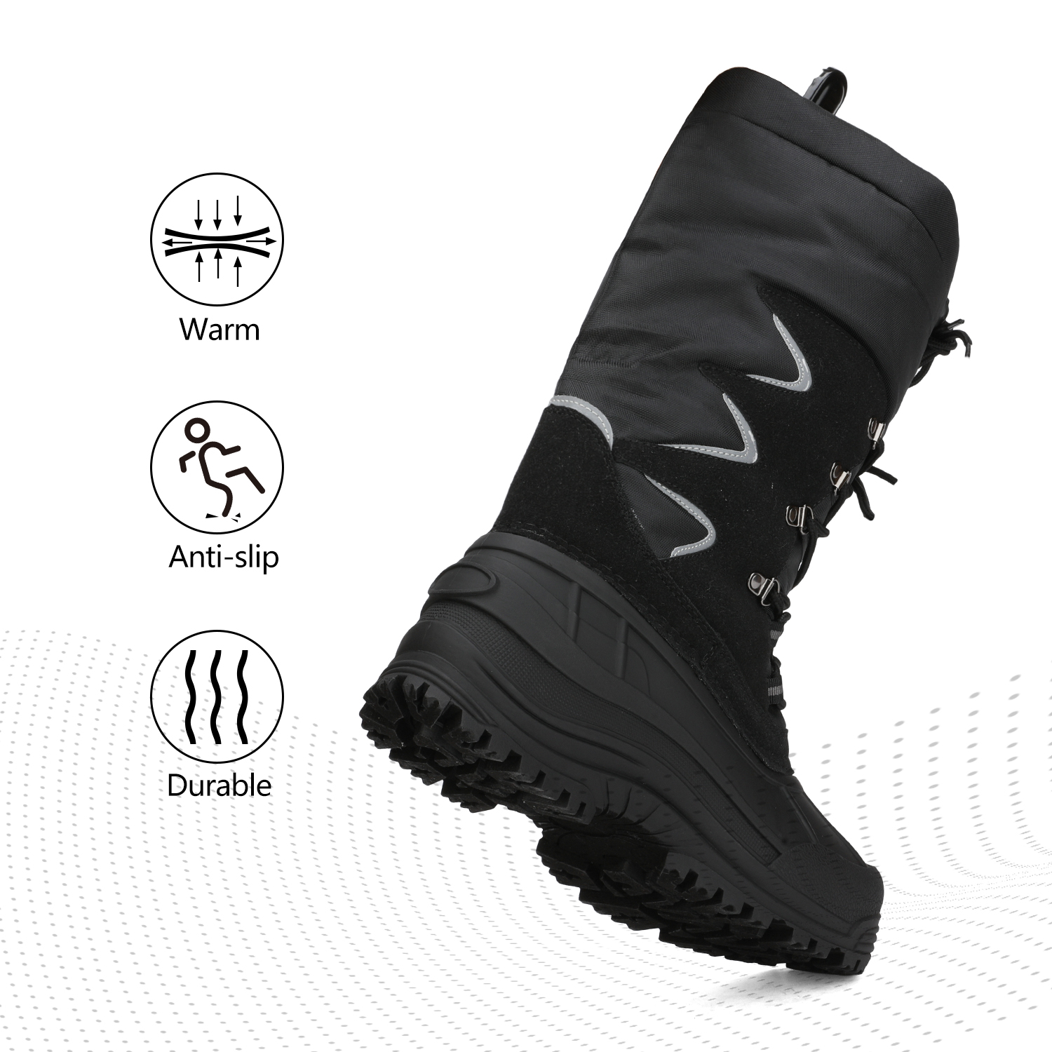 NORTIV-8-Men-039-s-Winter-Snow-Boots-Waterproof-Warm-Thermolite-Outdoor-Hiking-Boots thumbnail 15