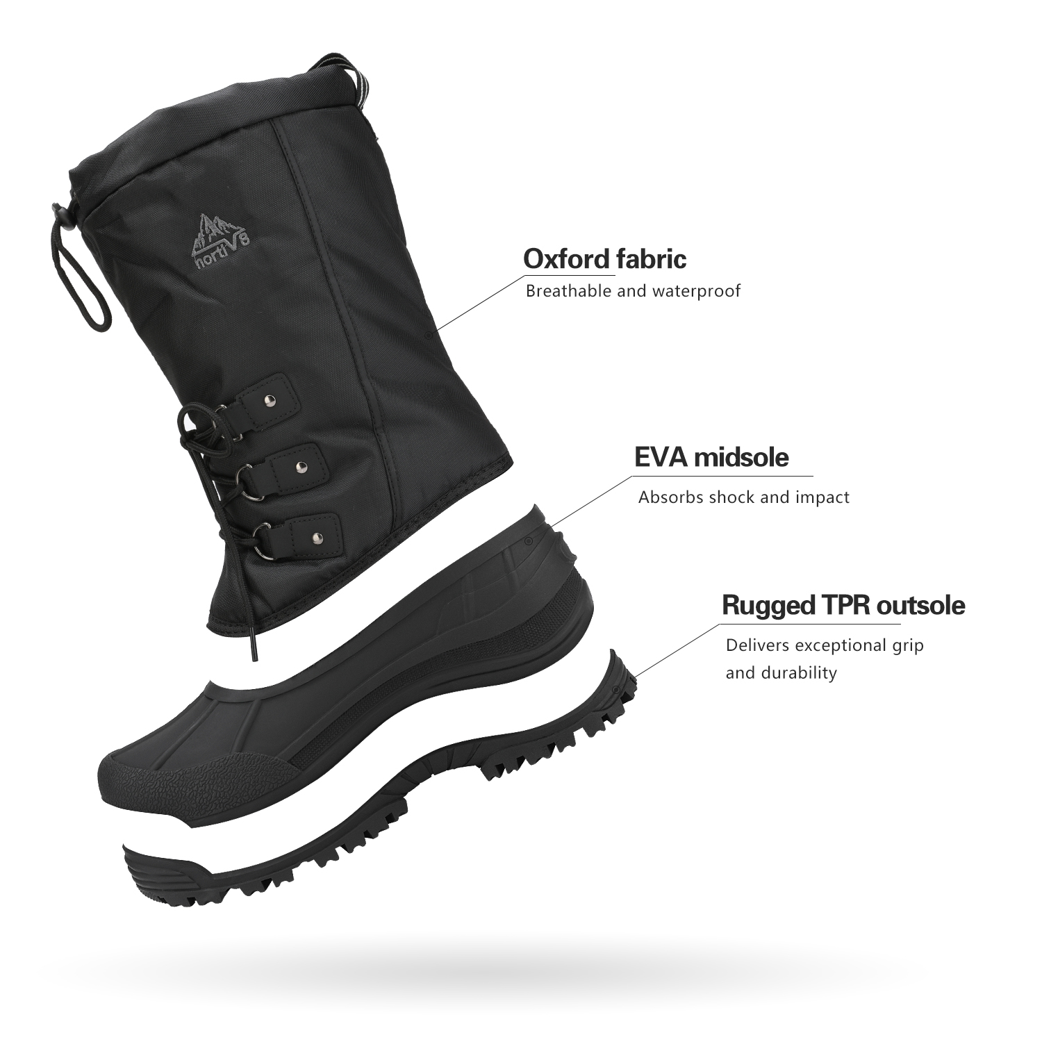 NORTIV-8-Men-039-s-Winter-Snow-Boots-Waterproof-Warm-Thermolite-Outdoor-Hiking-Boots thumbnail 20