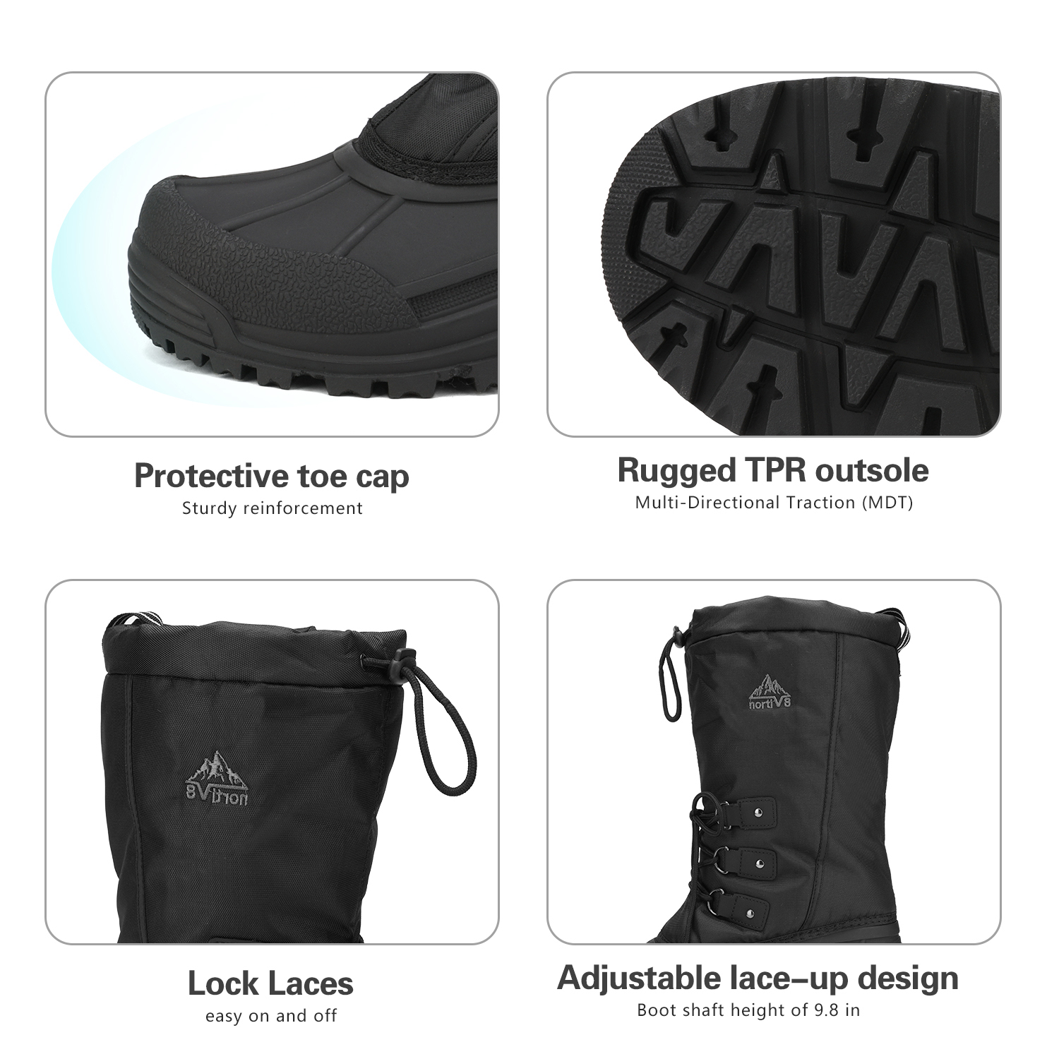 NORTIV-8-Men-039-s-Winter-Snow-Boots-Waterproof-Warm-Thermolite-Outdoor-Hiking-Boots thumbnail 18