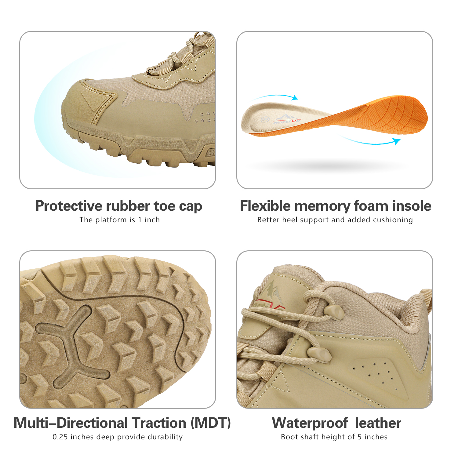 NORTIV-8-Men-039-s-Ankle-Waterproof-Hiking-Boots-Lightweight-Backpacking-Work-Shoes thumbnail 4