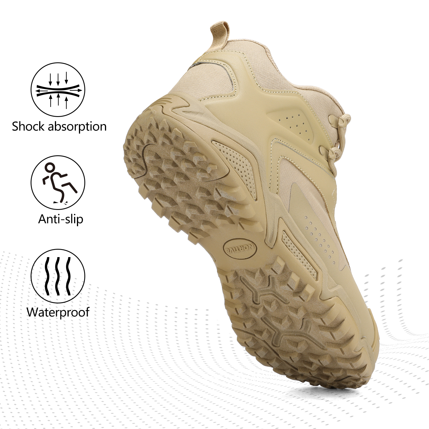 NORTIV-8-Men-039-s-Ankle-Waterproof-Hiking-Boots-Lightweight-Backpacking-Work-Shoes thumbnail 7