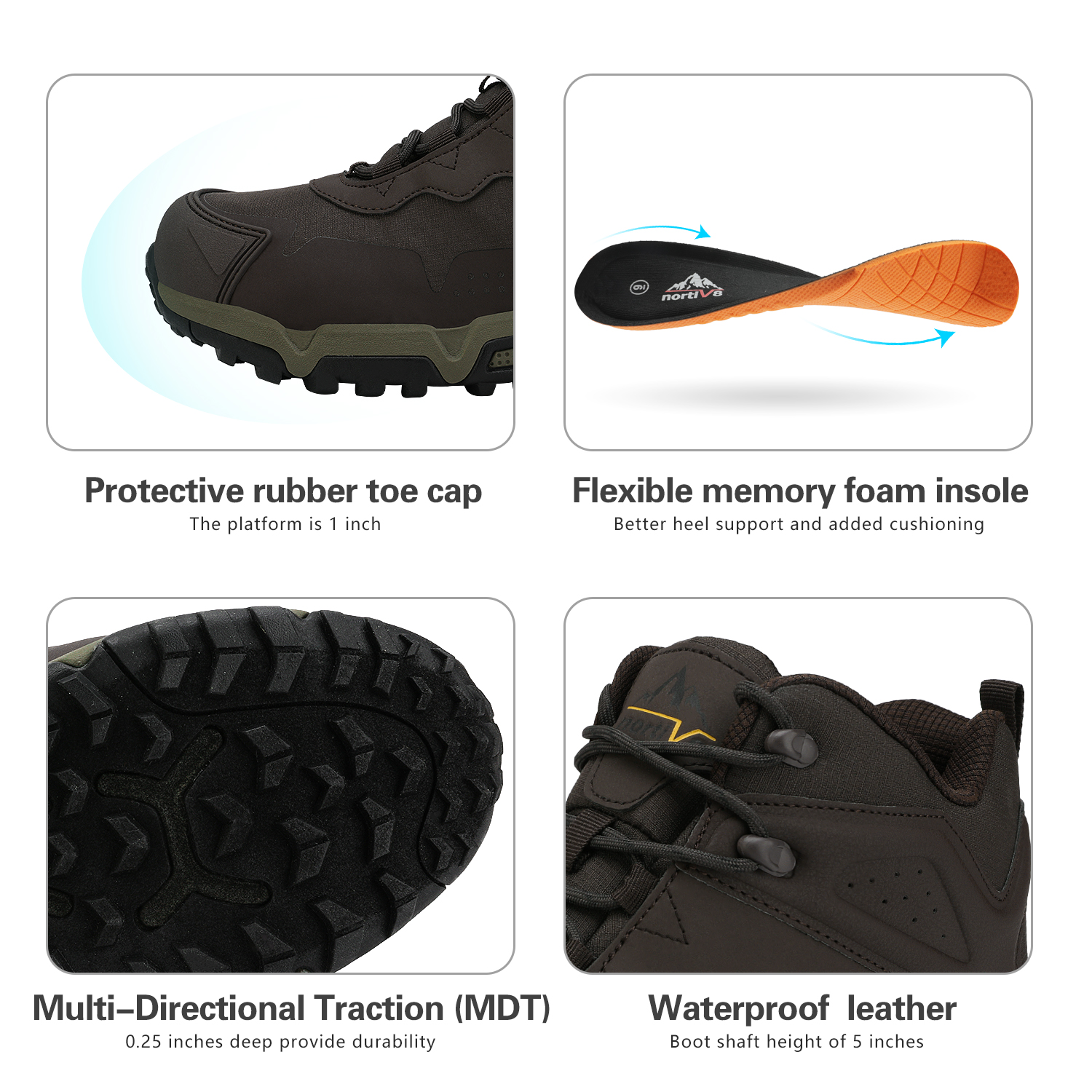 NORTIV-8-Men-039-s-Ankle-Waterproof-Hiking-Boots-Lightweight-Backpacking-Work-Shoes thumbnail 10