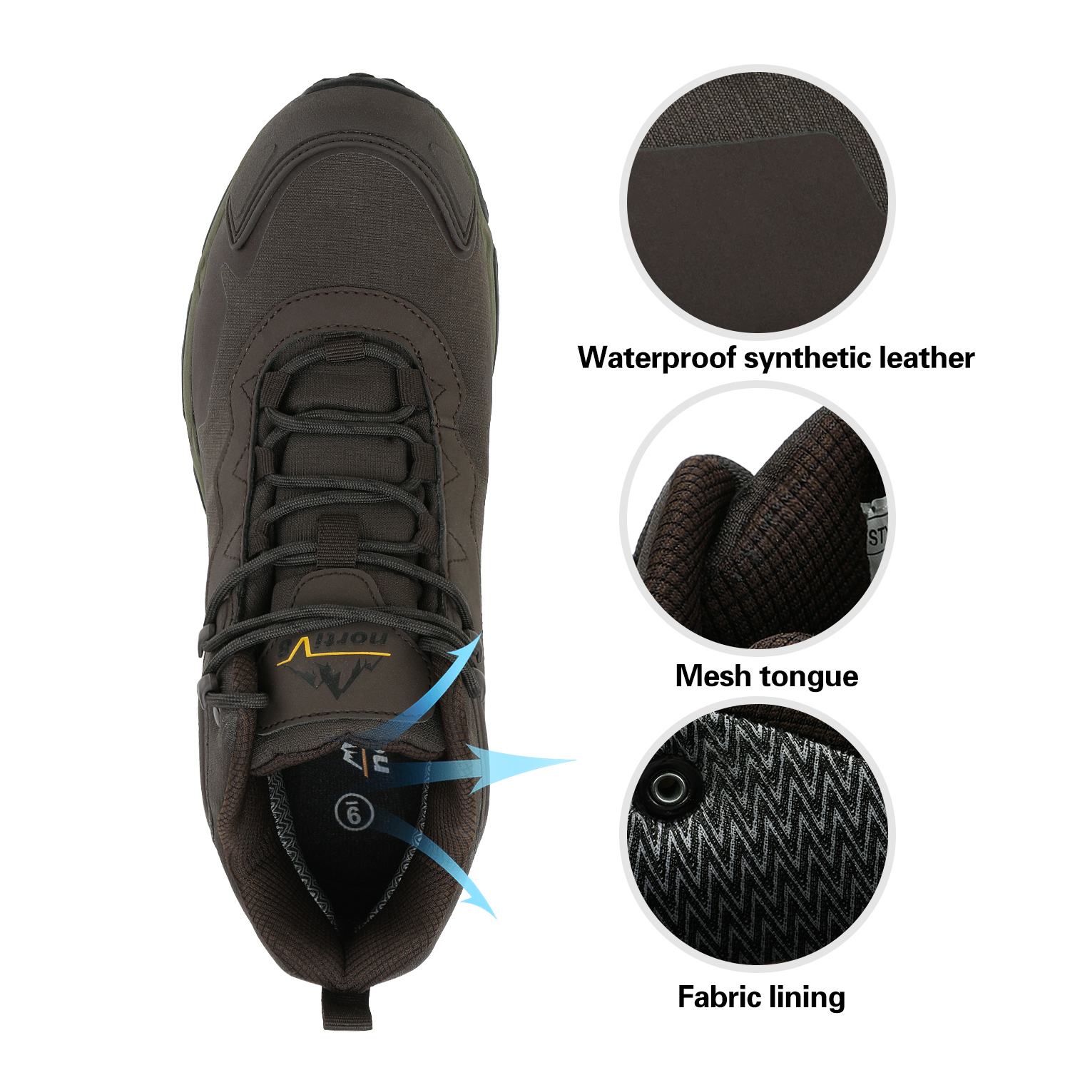 NORTIV-8-Men-039-s-Ankle-Waterproof-Hiking-Boots-Lightweight-Backpacking-Work-Shoes thumbnail 11