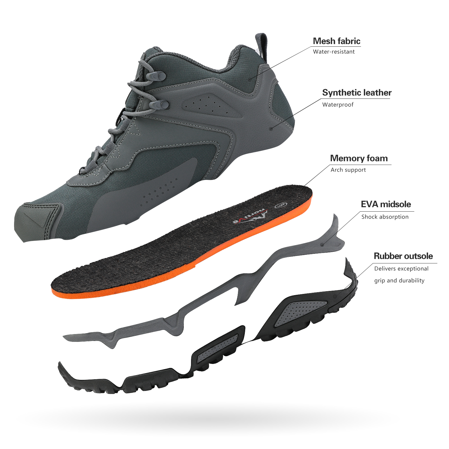NORTIV-8-Men-039-s-Ankle-Waterproof-Hiking-Boots-Lightweight-Backpacking-Work-Shoes thumbnail 18