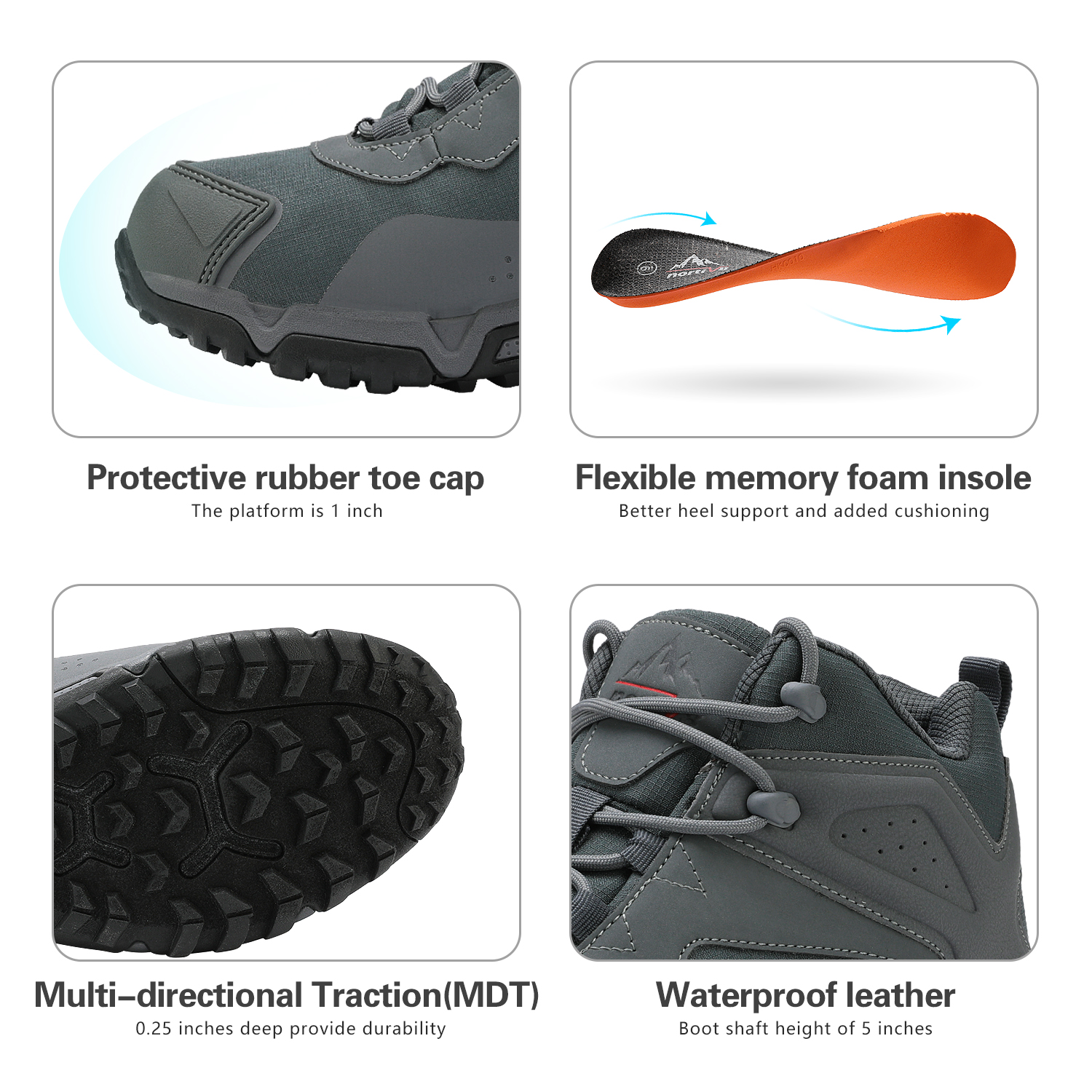 NORTIV-8-Men-039-s-Ankle-Waterproof-Hiking-Boots-Lightweight-Backpacking-Work-Shoes thumbnail 16