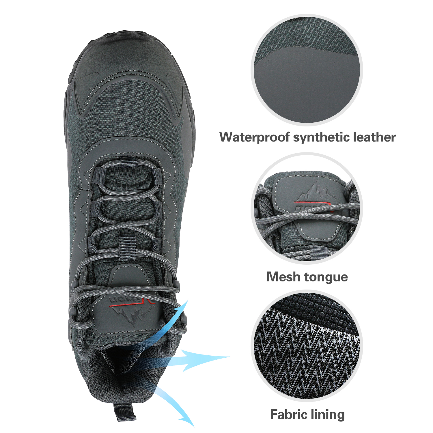 NORTIV-8-Men-039-s-Ankle-Waterproof-Hiking-Boots-Lightweight-Backpacking-Work-Shoes thumbnail 17