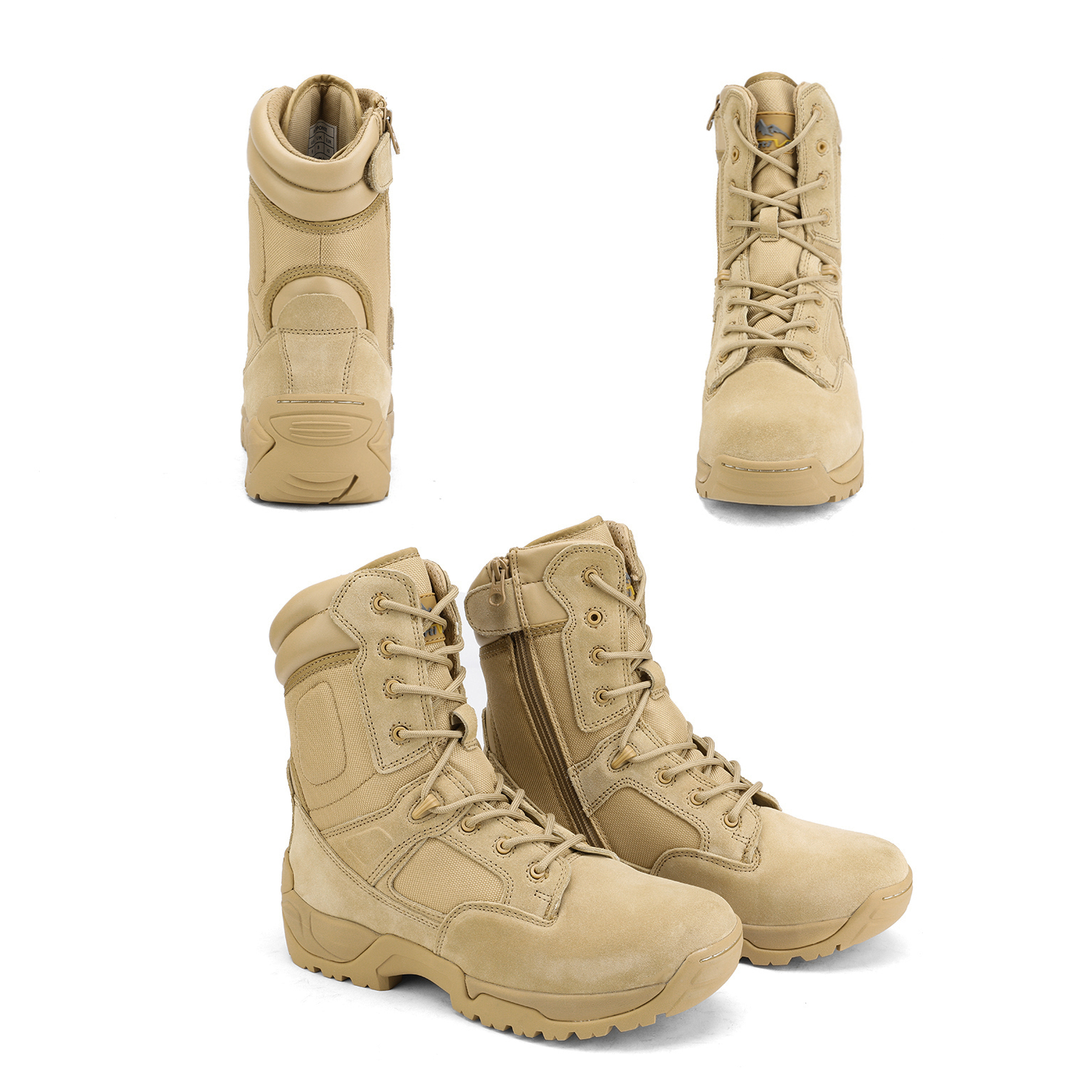 Men-039-s-Military-Tactical-Work-Boots-Hiking-Motorcycle-Combat-Bootie-New thumbnail 16