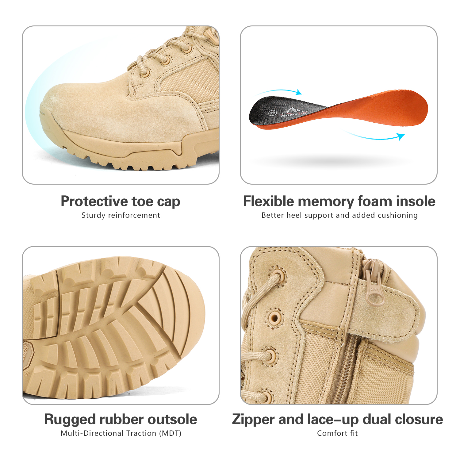 Men-039-s-Military-Tactical-Work-Boots-Hiking-Motorcycle-Combat-Bootie-New thumbnail 12