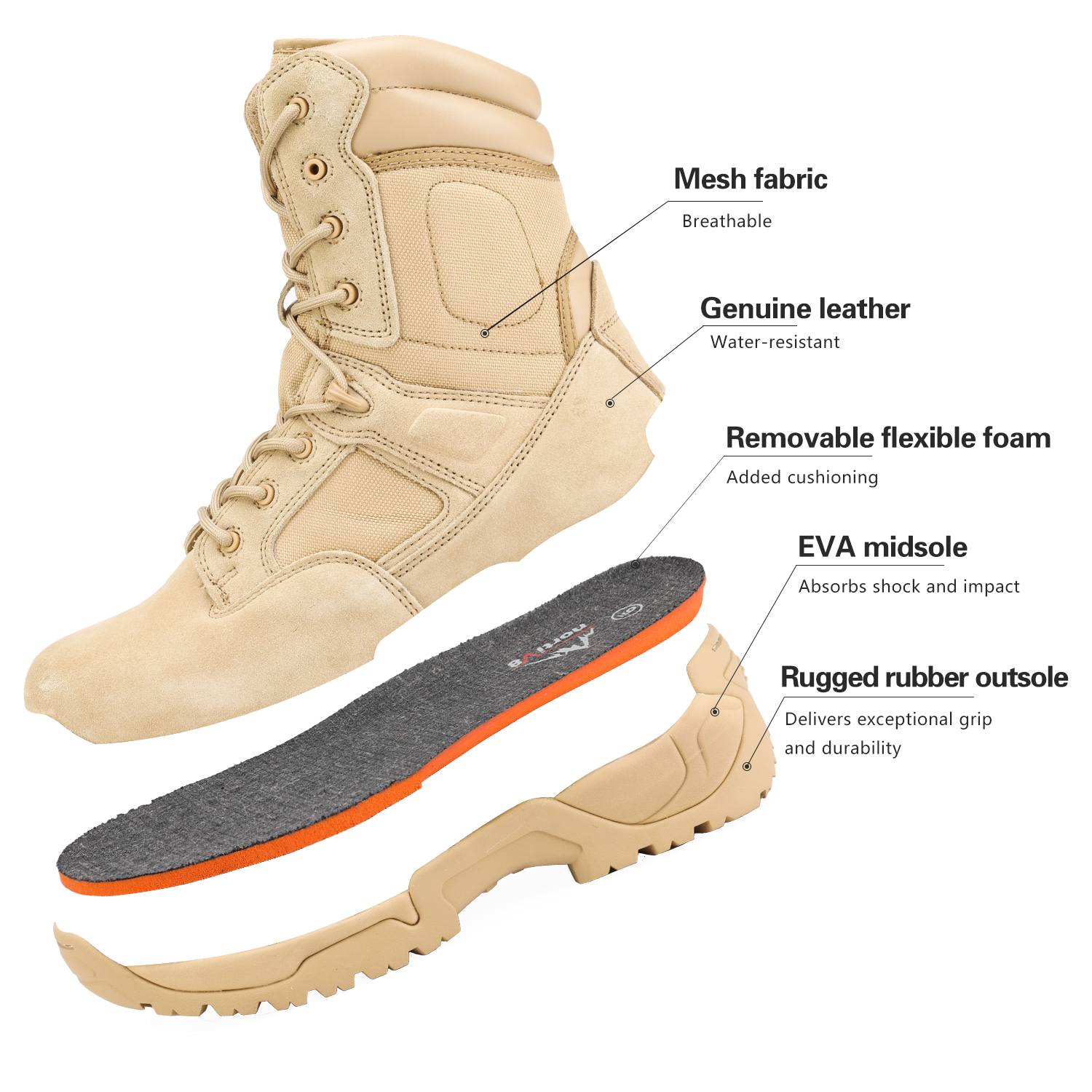 Men-039-s-Military-Tactical-Work-Boots-Hiking-Motorcycle-Combat-Bootie-New thumbnail 14