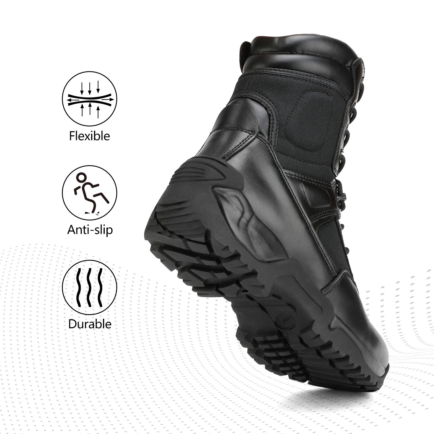 Men-039-s-Military-Tactical-Work-Boots-Hiking-Motorcycle-Combat-Bootie-New thumbnail 9