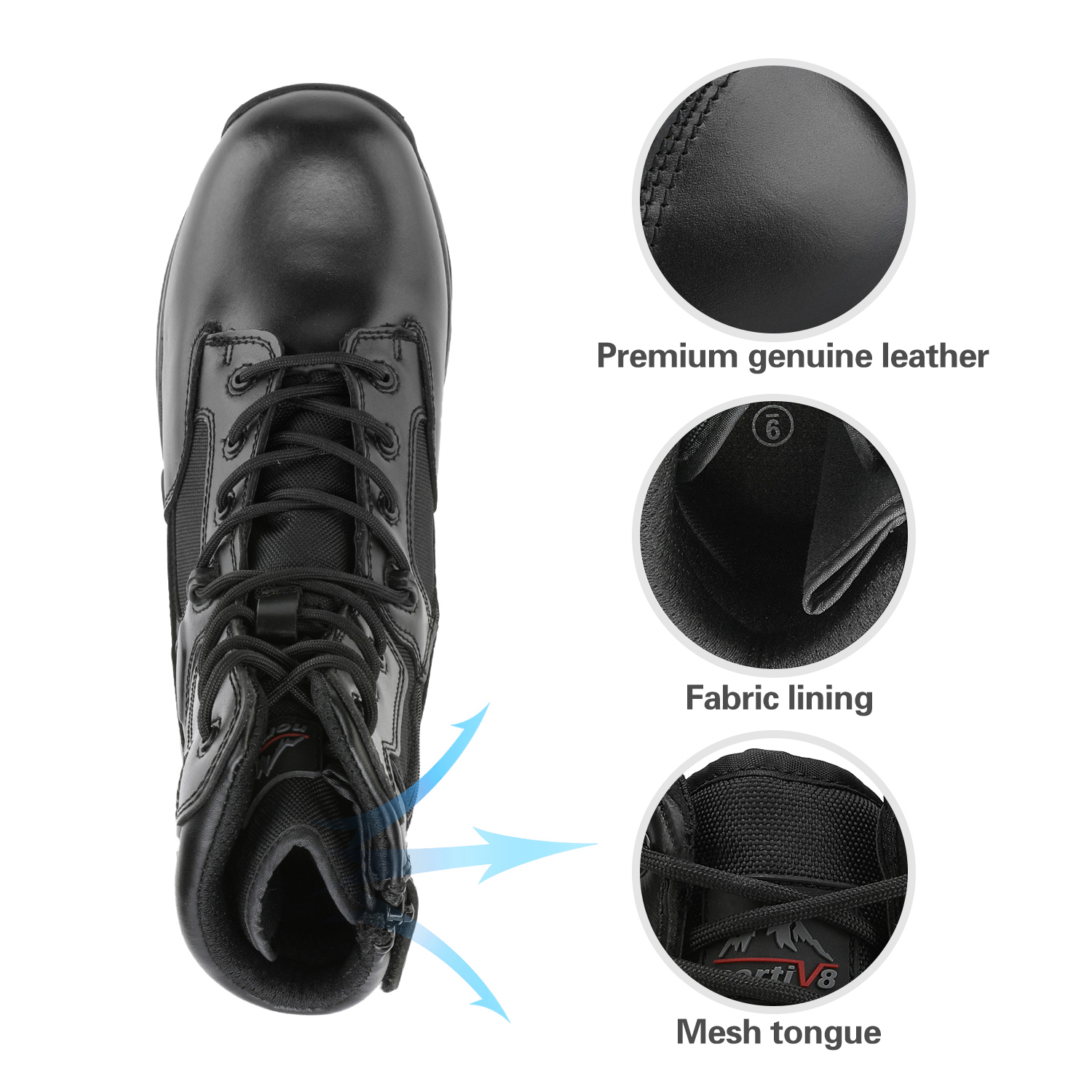 Men-039-s-Military-Tactical-Work-Boots-Hiking-Motorcycle-Combat-Bootie-New thumbnail 7