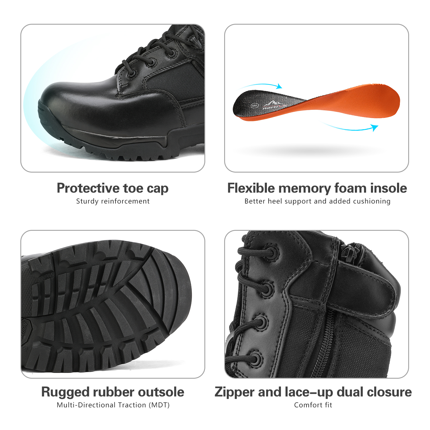 Men-039-s-Military-Tactical-Work-Boots-Hiking-Motorcycle-Combat-Bootie-New thumbnail 6