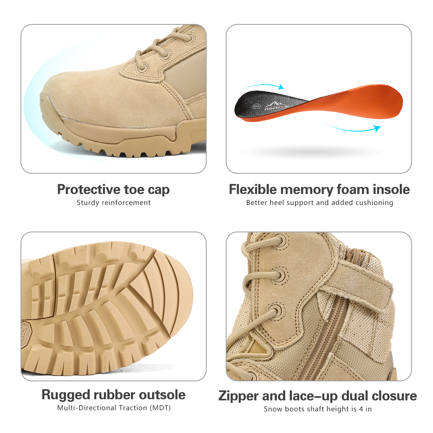 Men-039-s-Military-Tactical-Work-Boots-Hiking-Motorcycle-Combat-Bootie-New thumbnail 24