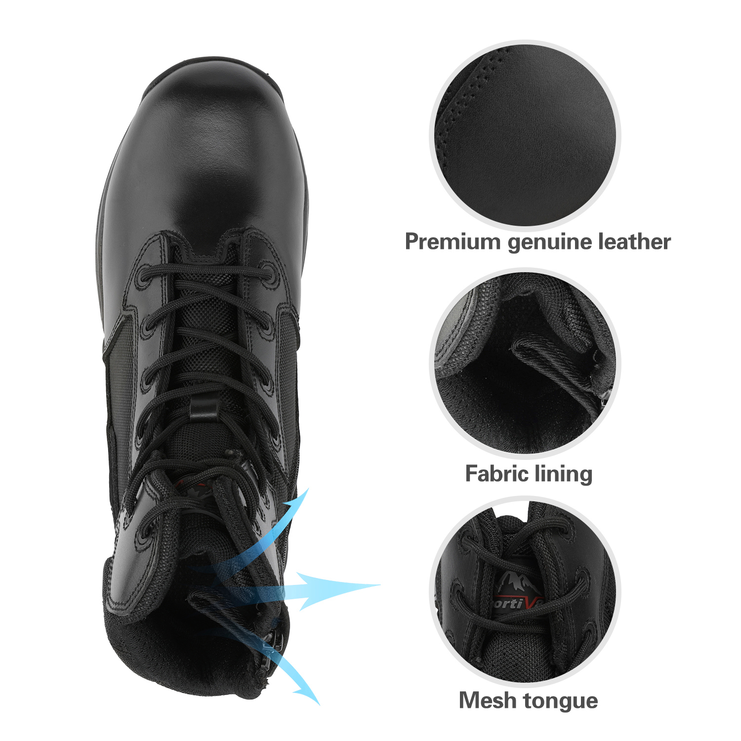 Men-039-s-Military-Tactical-Work-Boots-Hiking-Motorcycle-Combat-Bootie-New thumbnail 19