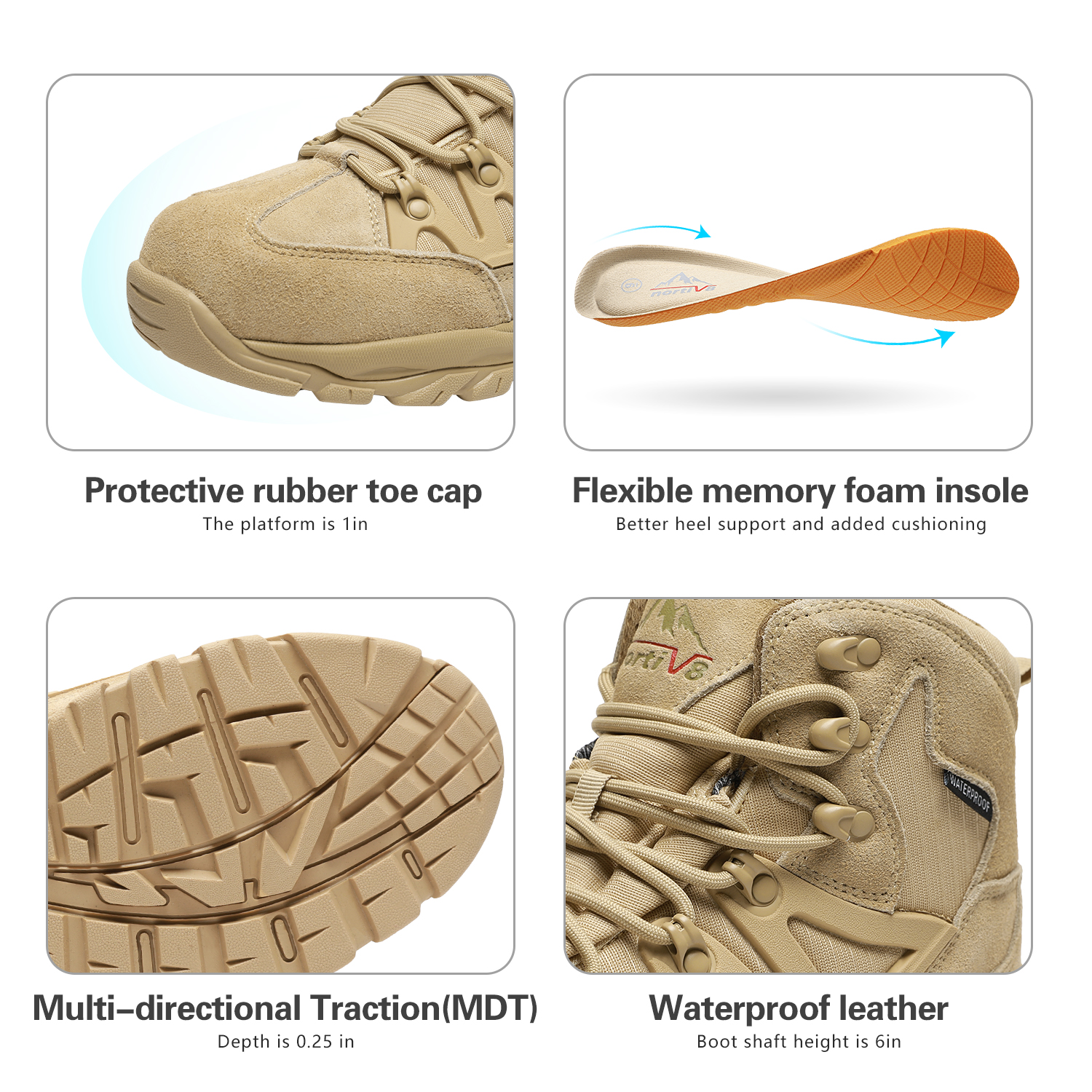 NORTIV-8-Men-039-s-Ankle-Waterproof-Hiking-Boots-Lightweight-Backpacking-Work-Shoes thumbnail 41