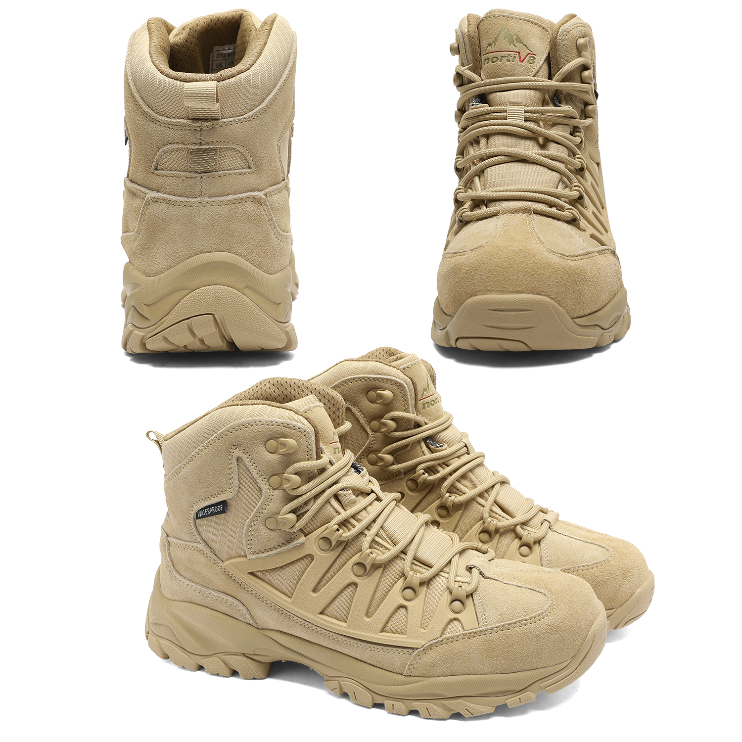 NORTIV-8-Men-039-s-Ankle-Waterproof-Hiking-Boots-Lightweight-Backpacking-Work-Shoes thumbnail 45