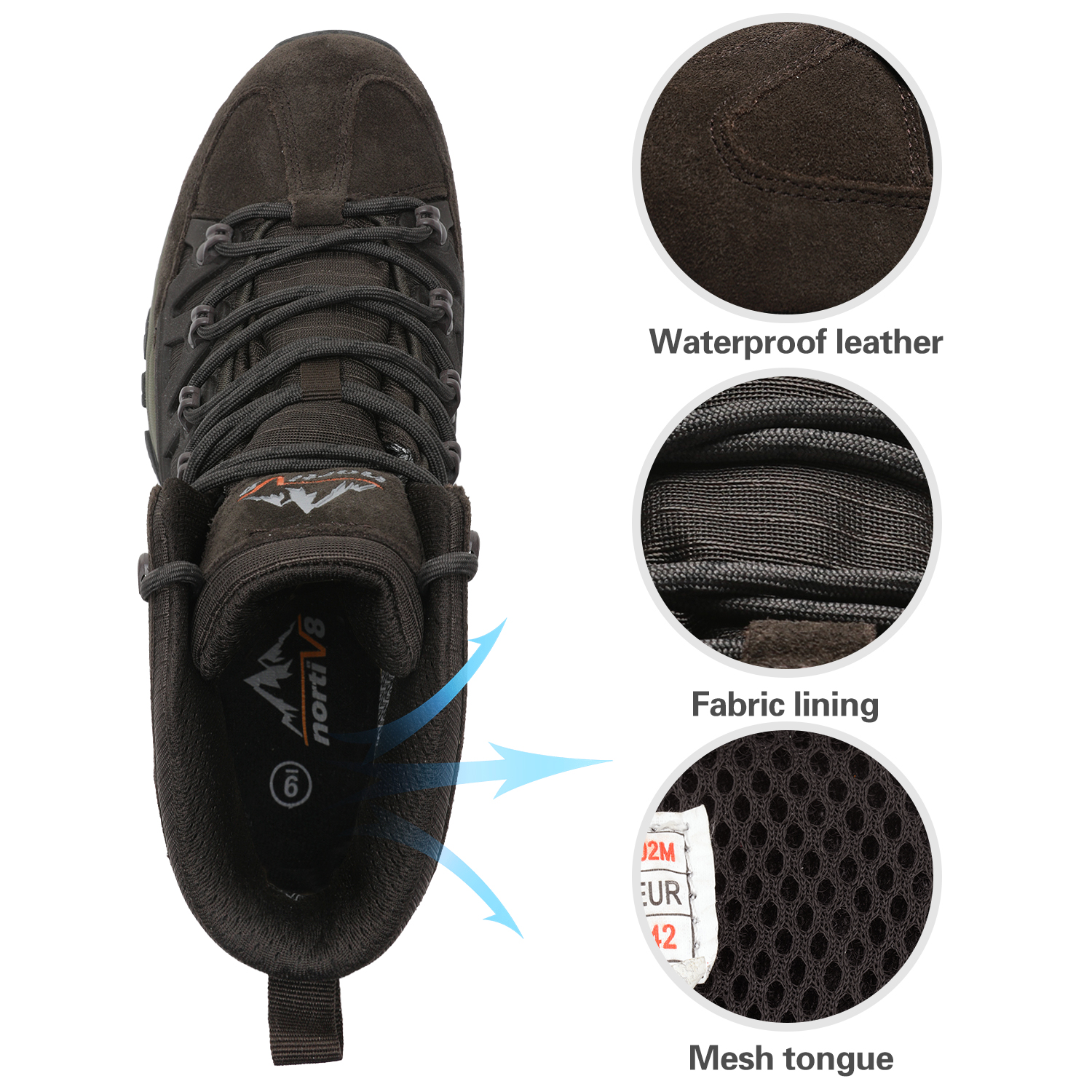 NORTIV-8-Men-039-s-Ankle-Waterproof-Hiking-Boots-Lightweight-Backpacking-Work-Shoes thumbnail 36
