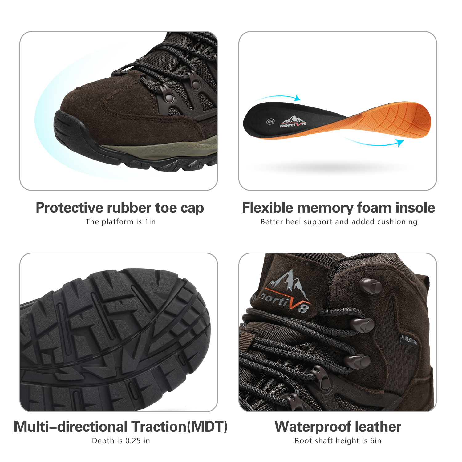 NORTIV-8-Men-039-s-Ankle-Waterproof-Hiking-Boots-Lightweight-Backpacking-Work-Shoes thumbnail 35