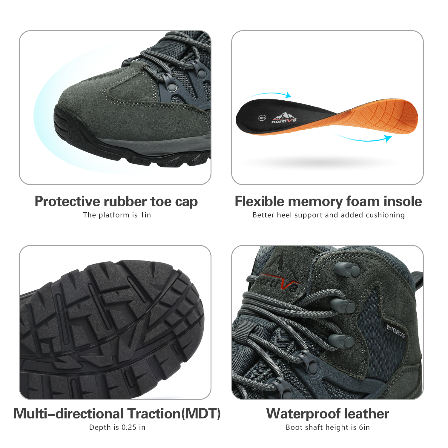 NORTIV-8-Men-039-s-Ankle-Waterproof-Hiking-Boots-Lightweight-Backpacking-Work-Shoes thumbnail 47
