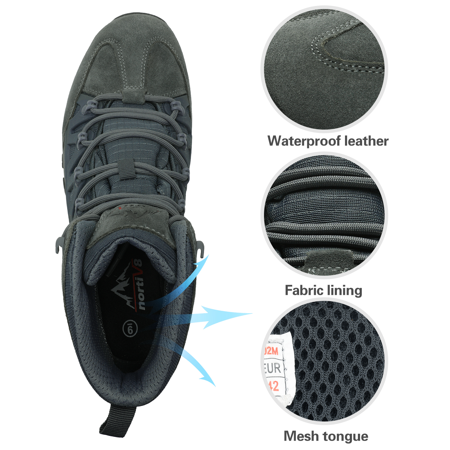 NORTIV-8-Men-039-s-Ankle-Waterproof-Hiking-Boots-Lightweight-Backpacking-Work-Shoes thumbnail 48