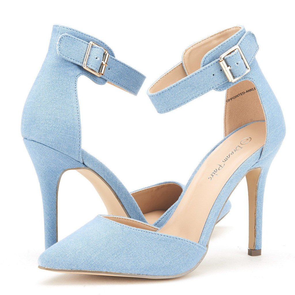 DREAM-PAIRS-Women-039-s-Suede-Pointy-Toe-Ankle-Strap-High-Heel-Dress-Pump-Shoes-5-11 thumbnail 24
