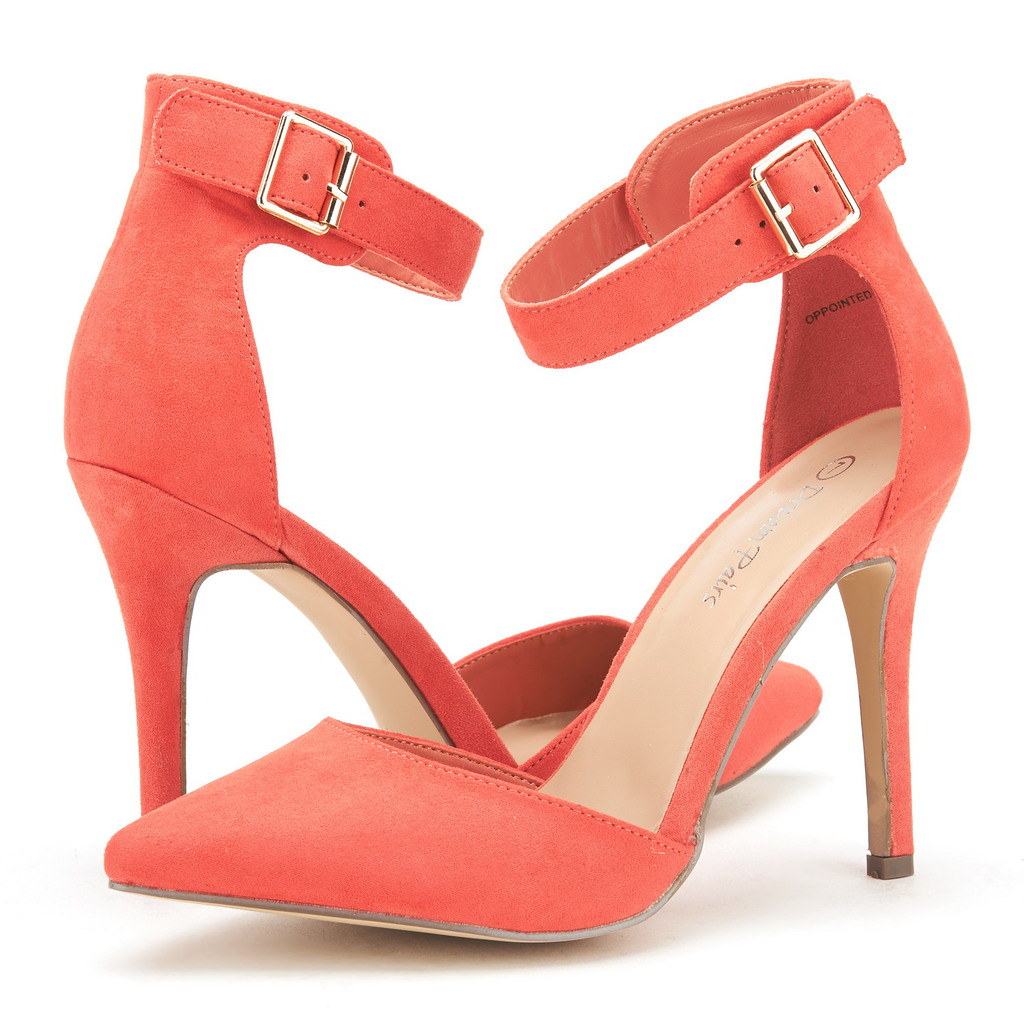 DREAM-PAIRS-Women-039-s-Suede-Pointy-Toe-Ankle-Strap-High-Heel-Dress-Pump-Shoes-5-11 thumbnail 20