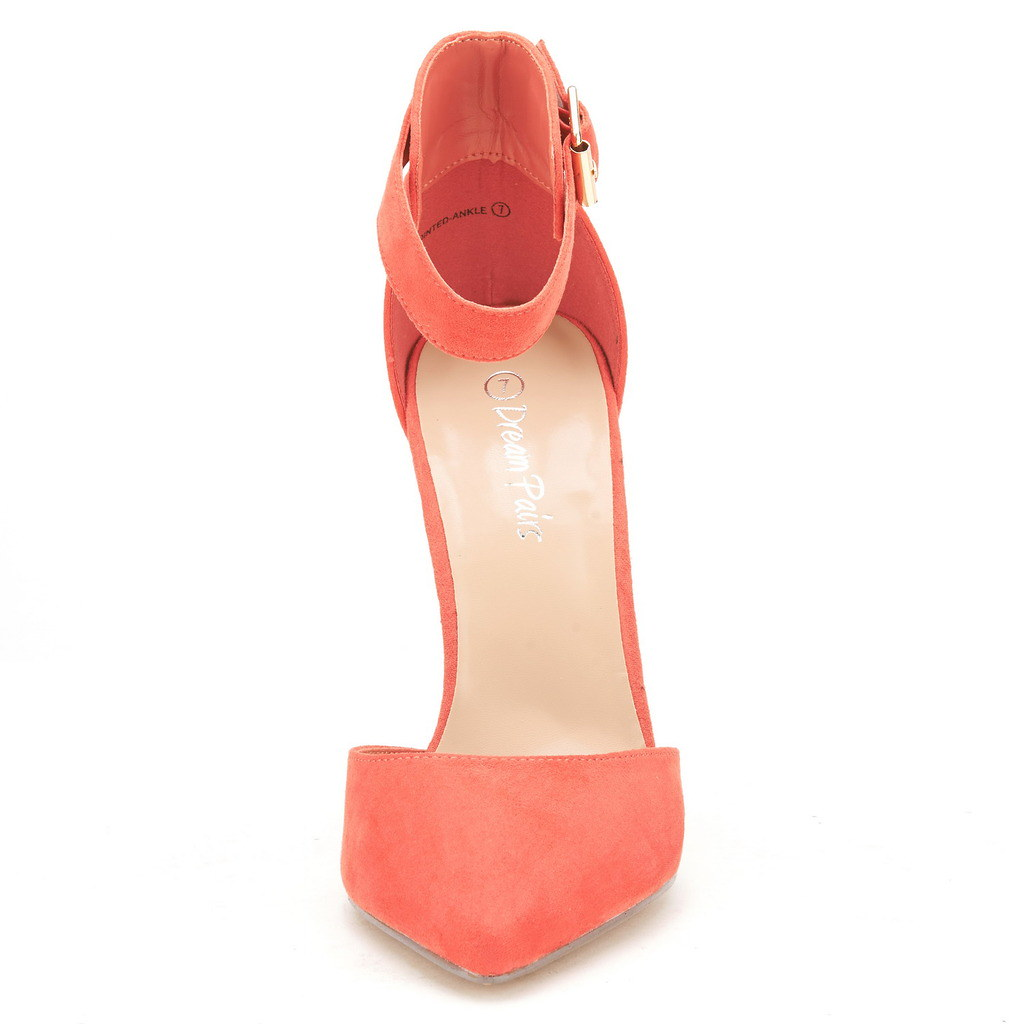 0c6e6fd14b1c7 DREAM PAIRS OPPOINTED-ANKLE Women's Toe Ankle Strap D'Orsay Pumps ...