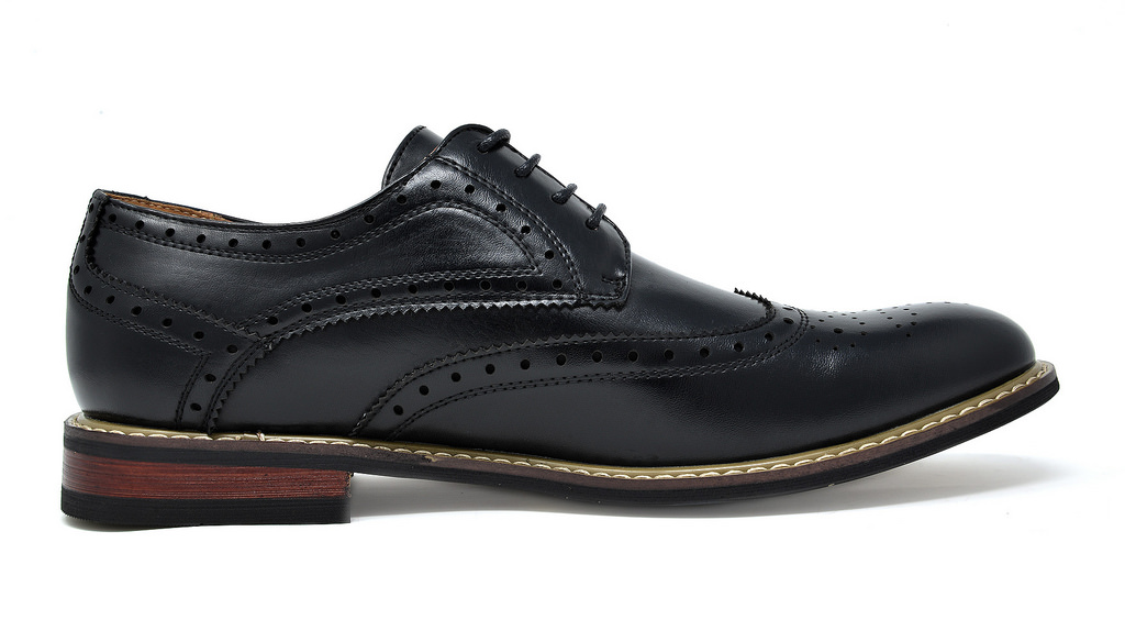 Bruno-Marc-Mens-Classic-Formal-Modern-Wingtip-Lace-Up-Dress-Oxfords-Shoes-6-5-15 thumbnail 9