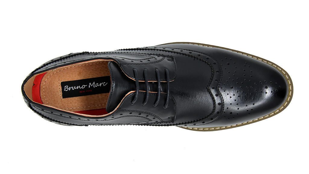 Bruno-Marc-Mens-Classic-Formal-Modern-Wingtip-Lace-Up-Dress-Oxfords-Shoes-6-5-15 thumbnail 10