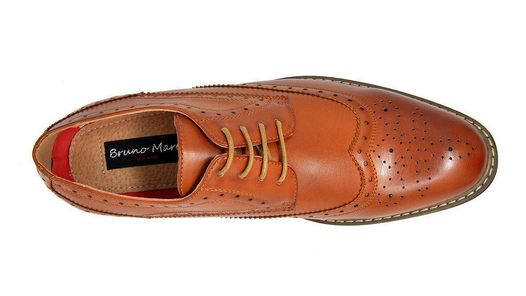 Bruno-Marc-Mens-Classic-Formal-Modern-Wingtip-Lace-Up-Dress-Oxfords-Shoes-6-5-15 thumbnail 17
