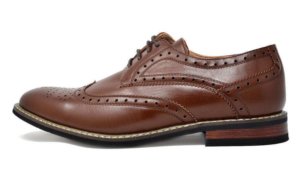 Bruno-Marc-Mens-Classic-Formal-Modern-Wingtip-Lace-Up-Dress-Oxfords-Shoes-6-5-15 thumbnail 22