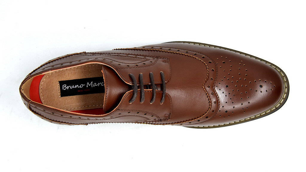 Bruno-Marc-Mens-Classic-Formal-Modern-Wingtip-Lace-Up-Dress-Oxfords-Shoes-6-5-15 thumbnail 24