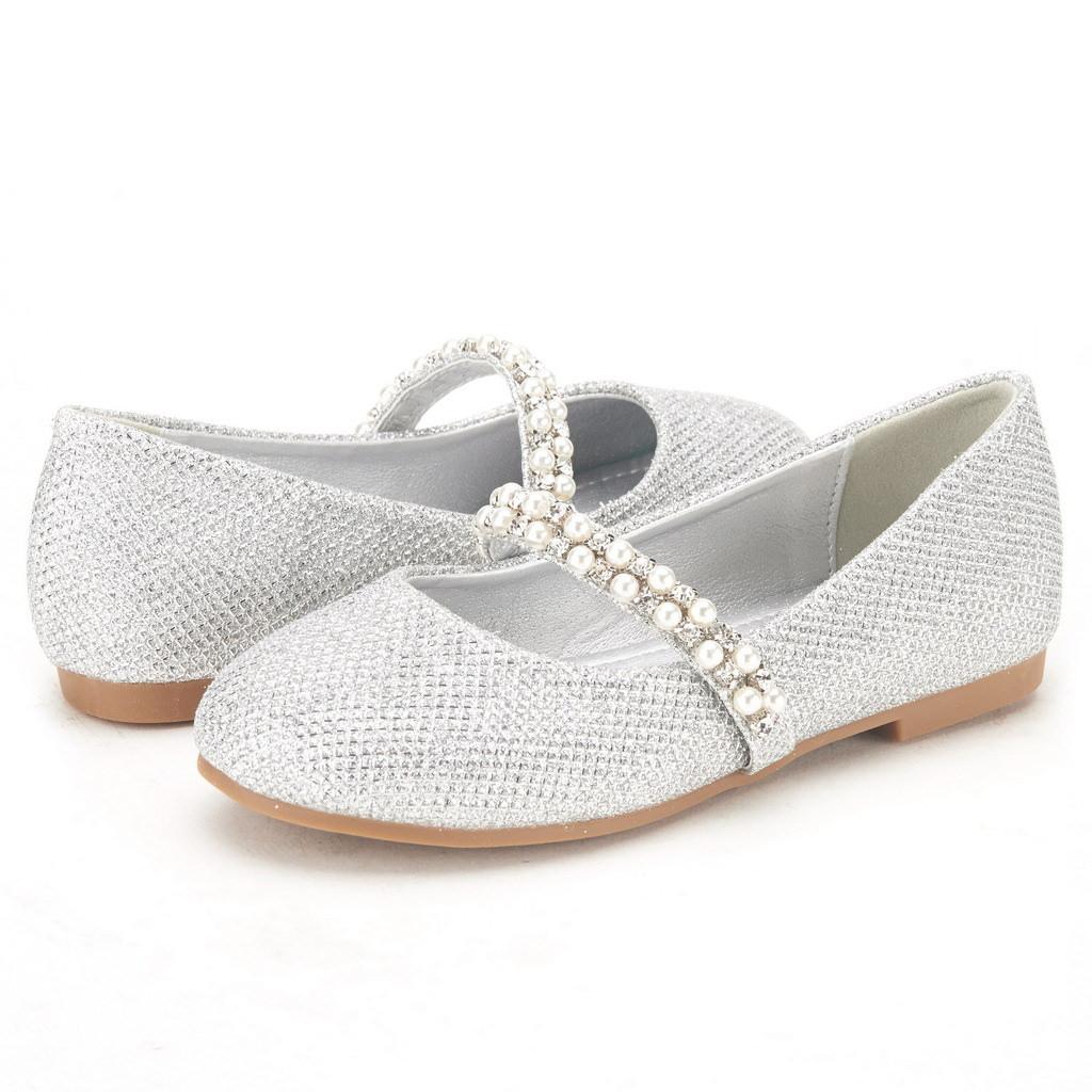 Fashion Slip On Round Toe Causal Padde Kids Flats Girls Dress Shoes Youth Shoes
