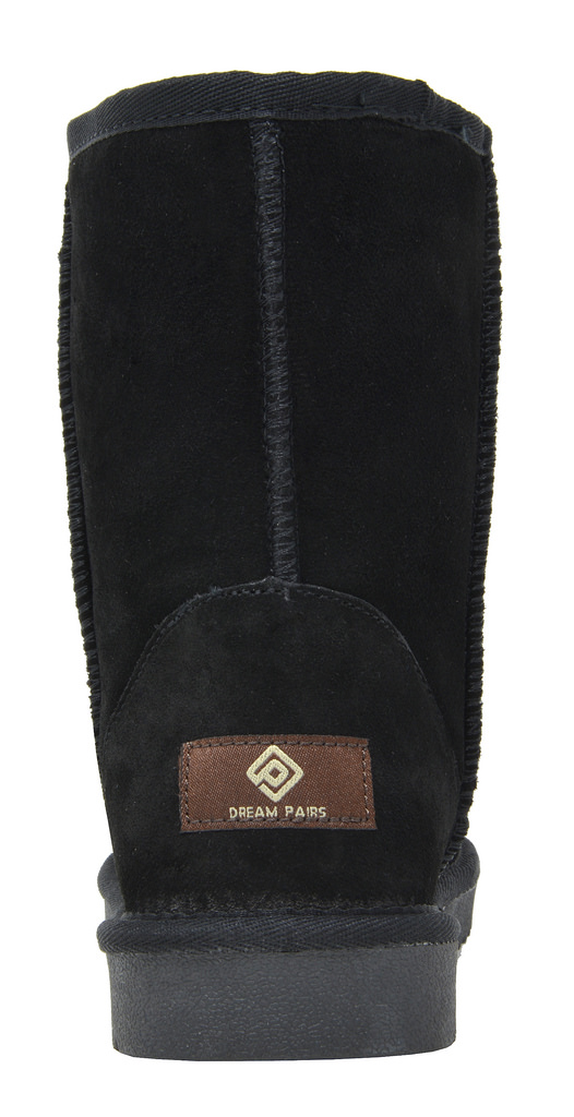 DREAM-PAIRS-Women-039-s-Suede-Leather-Sheepskin-Fur-Lining-Winter-Boots miniature 37