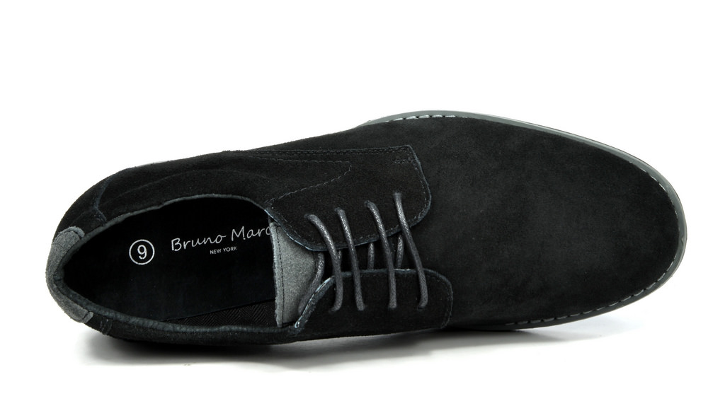 BRUNO-MARC-WRANGLE-Mens-Suede-Leather-Casual-Flat-Lace-up-Dress-Oxfords-Shoes thumbnail 8
