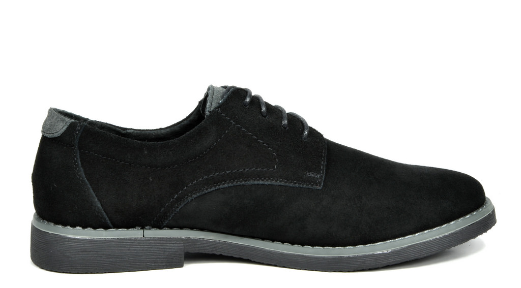 BRUNO-MARC-WRANGLE-Mens-Suede-Leather-Casual-Flat-Lace-up-Dress-Oxfords-Shoes thumbnail 7