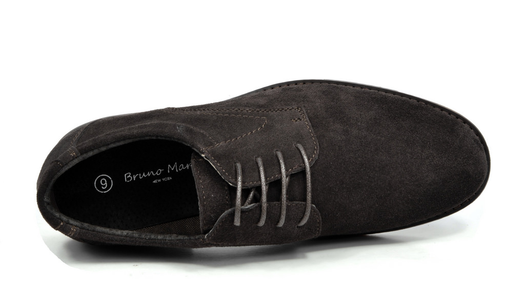 BRUNO-MARC-WRANGLE-Mens-Suede-Leather-Casual-Flat-Lace-up-Dress-Oxfords-Shoes thumbnail 19