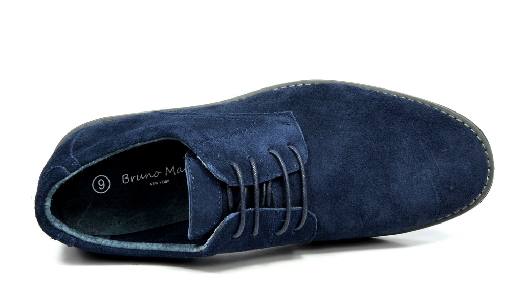BRUNO-MARC-WRANGLE-Mens-Suede-Leather-Casual-Flat-Lace-up-Dress-Oxfords-Shoes thumbnail 15