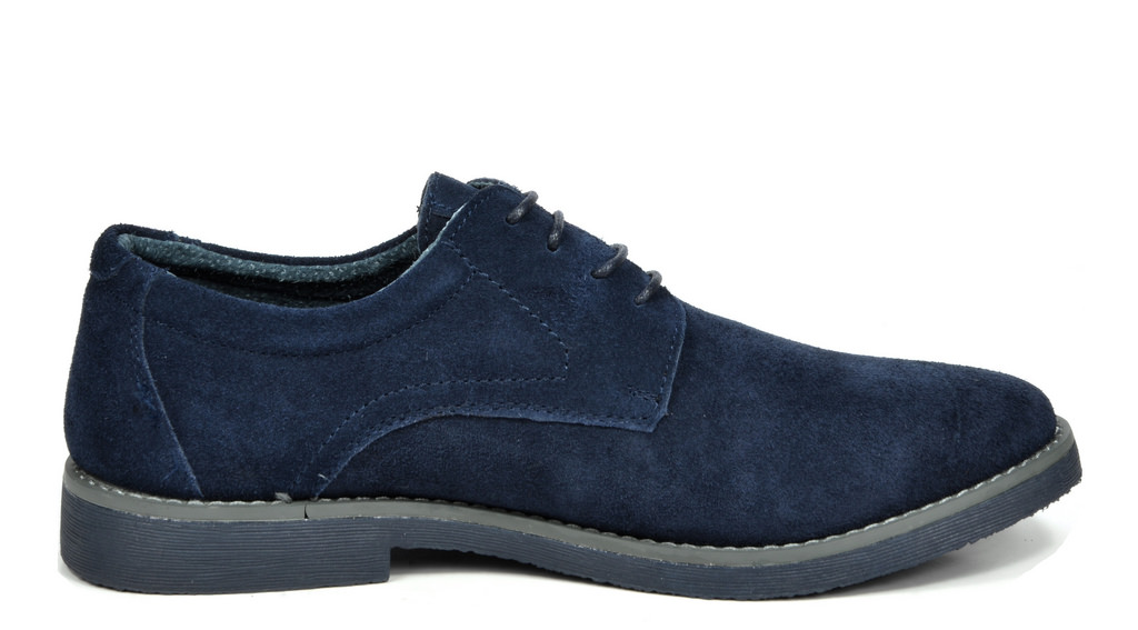 BRUNO-MARC-WRANGLE-Mens-Suede-Leather-Casual-Flat-Lace-up-Dress-Oxfords-Shoes thumbnail 14