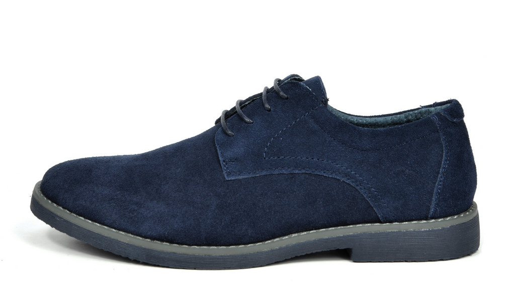 BRUNO-MARC-WRANGLE-Mens-Suede-Leather-Casual-Flat-Lace-up-Dress-Oxfords-Shoes thumbnail 13