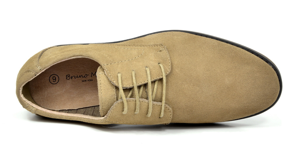 BRUNO-MARC-WRANGLE-Mens-Suede-Leather-Casual-Flat-Lace-up-Dress-Oxfords-Shoes thumbnail 28