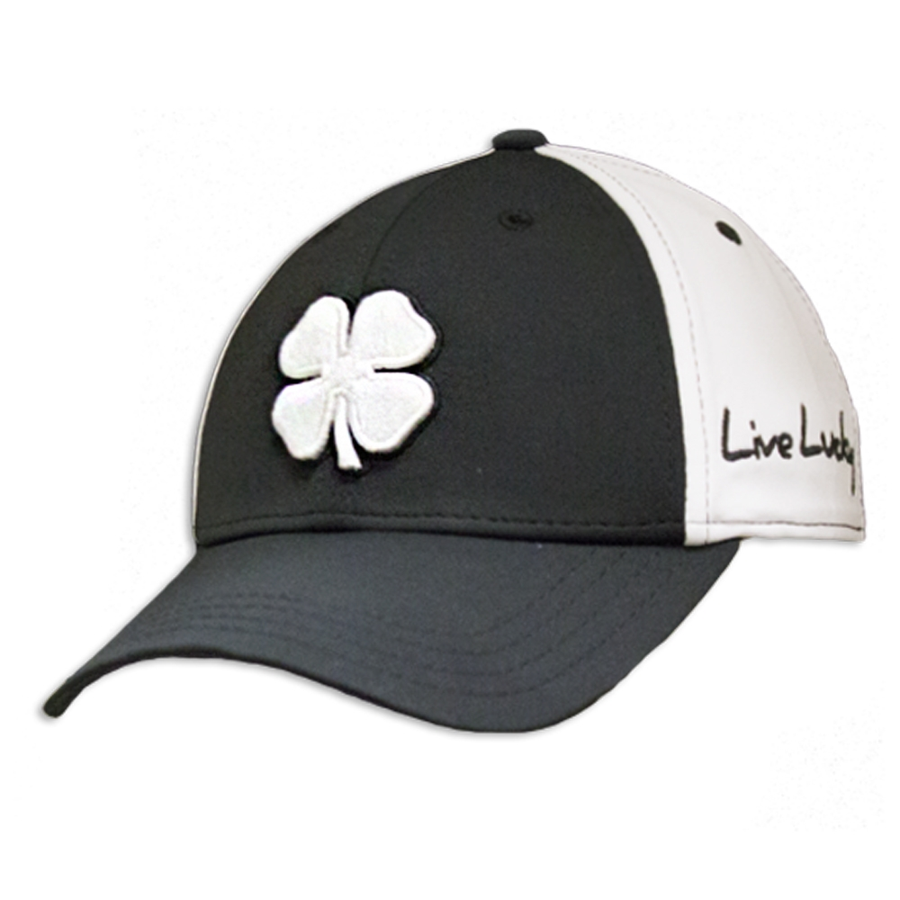 Details about Black Clover Mens Premium Clover  84 White Black Black Fitted  Hat 647923cb0f7