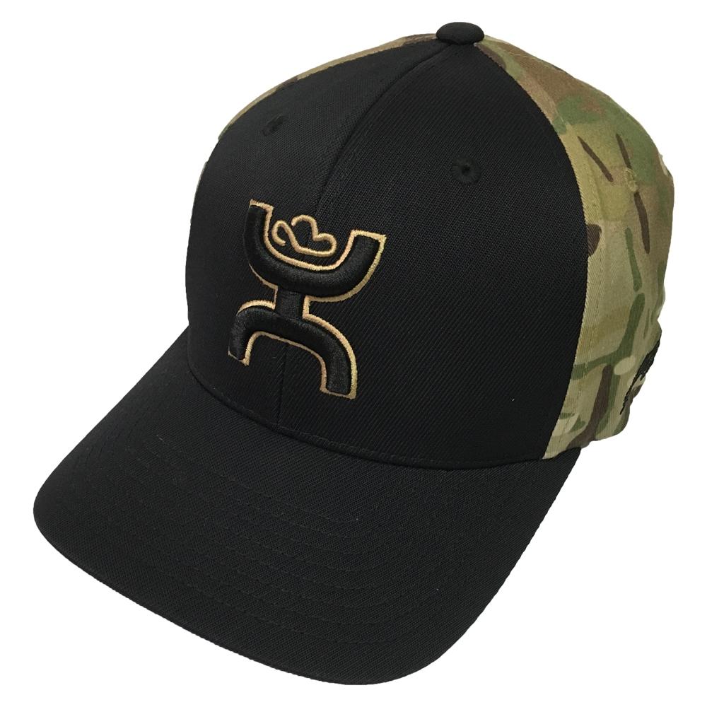 Details about Hooey Brand Chris Kyle Black Multi Camo Flexfit Hat - CK015 1d4ab1643c3