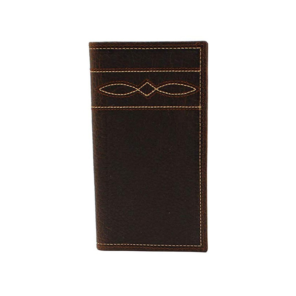 Ariat Mens Western Wallet Rodeo Medium Brown Boot Stitched Distressed