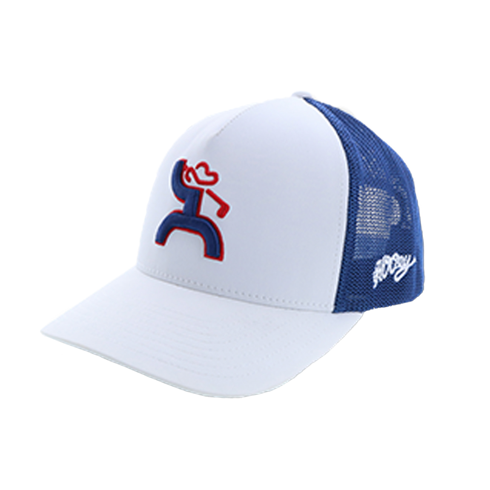 2253d63fc07 Details about Hooey Golf Fury White Blue Trucker Hat -- 1865T-WHBL