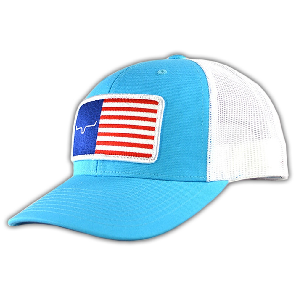 febc3f578b000 Kimes Ranch American Trucker Hat Turquoise