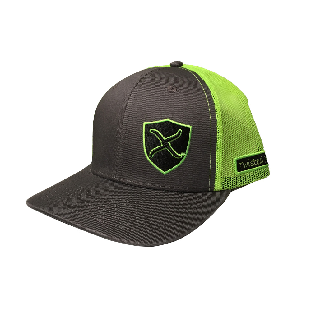 d5b3a0ada083d1 Details about Twisted X Neon Green and Gray Adjustable Snapback Hat